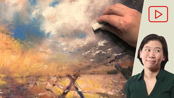 Soft Pastel Landscape Drawing