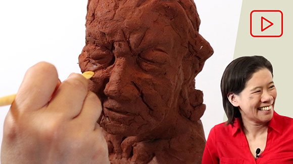 Portrait Sculpture with Air Dry Clay