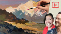 Painting Mountains in Acryl Gouache