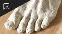 Sculpting a Foot in Clay