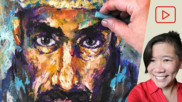 Oil Pastel Portrait Drawing