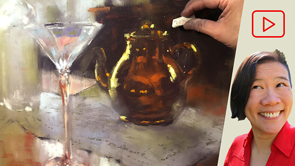 Drawing Glass in Soft Pastel