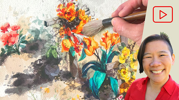 Painting a Cemetery in Watercolor, Clara Lieu