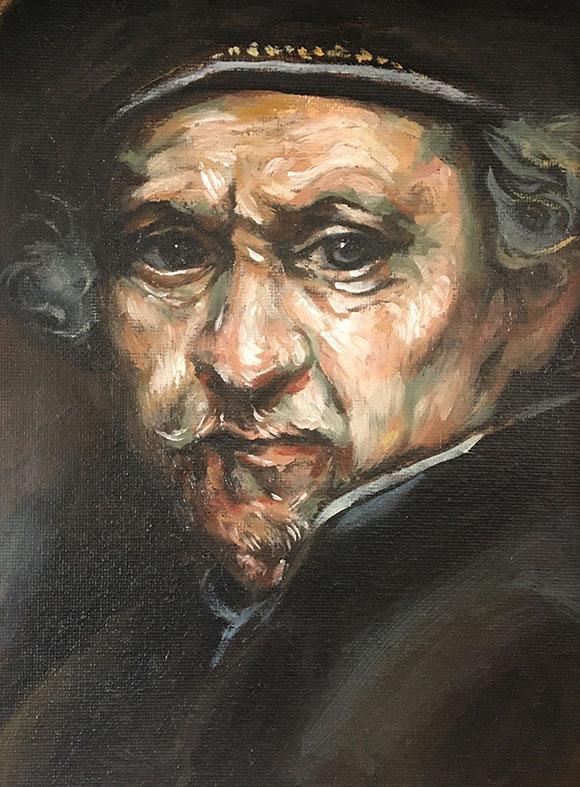 Rembrandt Self-Portrait Mastercopy, Cat Huang