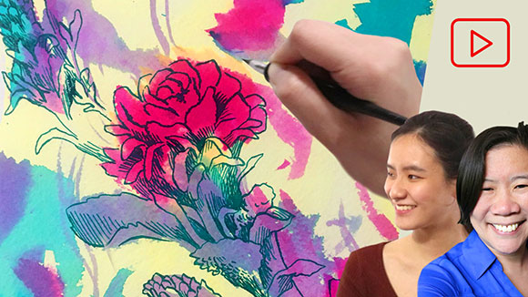 Dip Pens with Liquid Watercolor