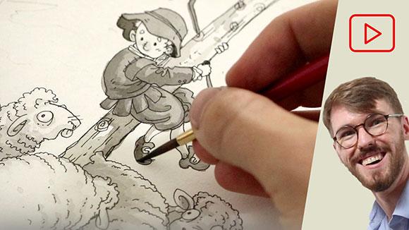 Pen & Ink Illustration, Alex Rowe