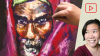 Oil Pastel Drawing after Steve McCurry