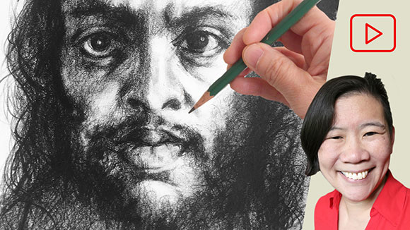 Pencil Portrait Drawing, Clara Lieu